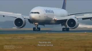 Lufthansa Boeing 777F Descent And Landing Into Frankfurt [English Subtitles]