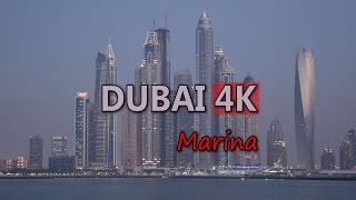 Ultra HD 4K Dubai City Marina Travel UAE Tourism Tourist Attraction Skyline UHD Video Stock Footage