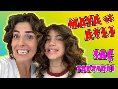 Maya Aslı Saçlarını Yaptırdı - Noa Doğum Günü Hazırlıkları | Bizim Aile