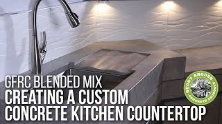 How to make concrete countertops using Buddy Rhodes GFRC Blended Mix