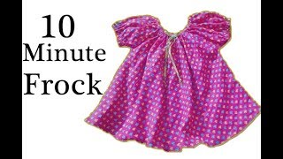Simple baby frock cutting and stitching in 10 minutes