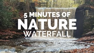 5 MINUTES IN NATURE- Waterfall - 1080p High Quality Video and Sound