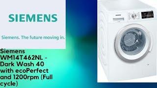 Siemens WM14T462NL - Dark Wash 40 w/ ecoPerfect (Full cycle)