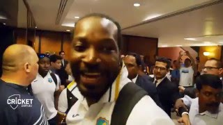 West Indies celebrating winning against India T20 World cup 2016 2nd semi-final