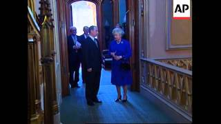 UK: WINDSOR: QUEEN HOLDS AUDIENCE WITH PRESIDENT PUTIN