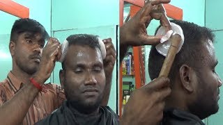 RAJA MASTER Amazing Performance ~ASMR Comb Head Massage with Heavy  Oil,,