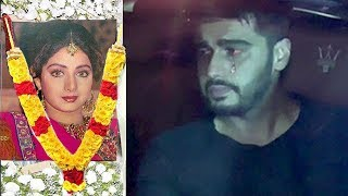 EMOTIONAL Arjun Kapoor Finally Breaks Down In Front Of Media Outside Sridevi