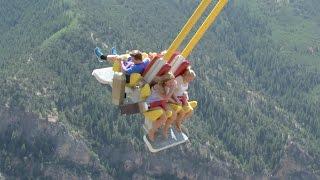 Giant Canyon Swing (including POV) - Glenwood Caverns (HD)