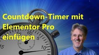 Countdown Timer für Elementor Pro