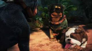 Talking dogs from Pixar's UP