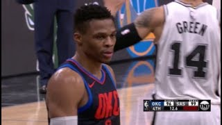 Russell Westbrook airballs TWICE in final 2 minutes vs Spurs
