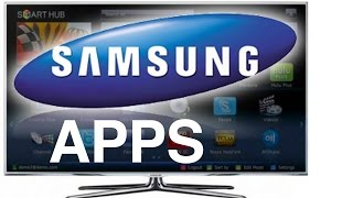 How to Download apps? download YouTube for Samsung Smart TV