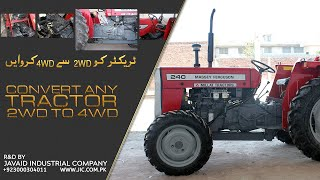 Tractor Conversion from 2WD to 4WD by Javaid Industrial Company (www.jic.com.pk)
