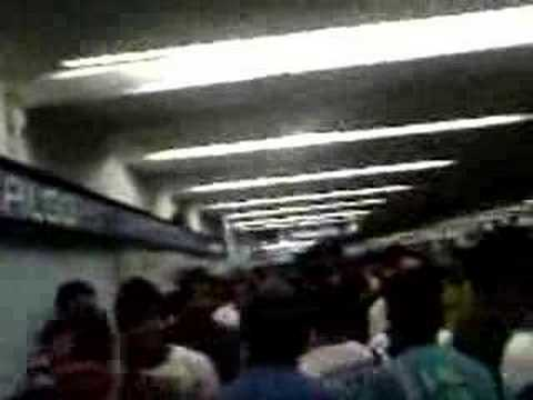 Hora pico en el metro
