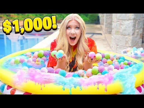 FILLING my pool with a THOUSAND Bath Bombs Experiment