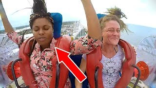 People Passing Out | Funny Slingshot Ride Compilation
