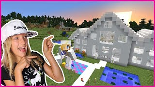 Putting Furniture in My NEW HOUSE  Minecraft Realm
