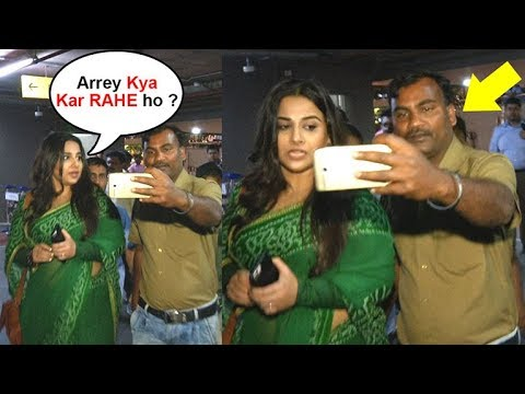 Xxx Mp4 Vidya Balan Gets ANGRY On A Fan For Touching While Taking Selfie 3gp Sex