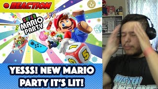 Super Mario Party - Official Game Trailer REVEAL REACTION - Nintendo E3 2018