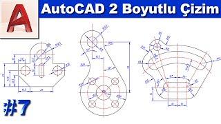AutoCAD 2 boyutlu çizim #7 (Sesli, Altyazılı)