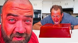 🚑 HORRIBLE MISTAKE!! THAT WAS TOO HOT!!! 🌶🔥 GIANT GUMMY HOT PEPPER PRANK!