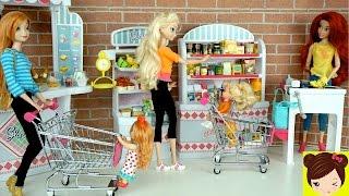 Aventuras en el Supermercado con Bebes de Elsa y Anna - Jugando con Muñecas Princesas Disney