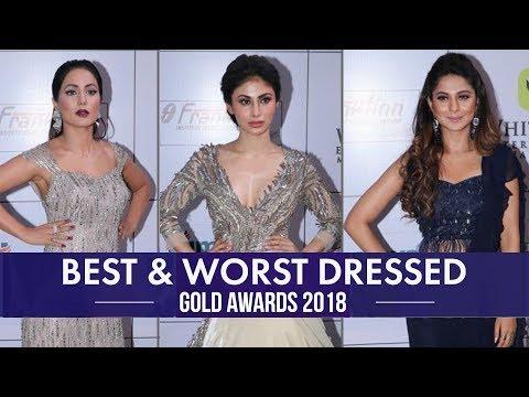 Xxx Mp4 Hina Khan Jennifer Winget Divyanka Tripathi Best And Worst Dressed From Gold Awards 2018 3gp Sex