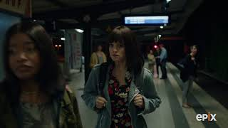 Berlin Station Season 2: Ep 208 April and Lena in Subway I EPIX