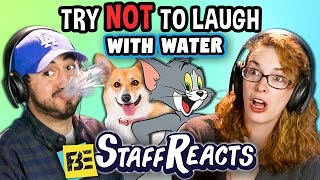 Try to Watch This Without Laughing or Grinning WITH WATER!!! #3 (ft. FBE STAFF)