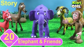 Elephant & Friends | Panchatantra English Stories for Children | Stop Motion Animation - KidsOne