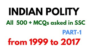Indian polity historical background All MCQ asked in ssc exam from 1999 to 2017