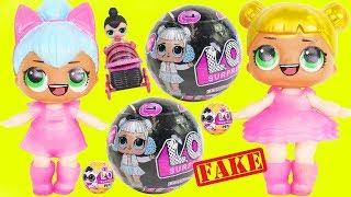 FAKE Heartbreaker Baby Big LOL Surprise Dolls Strollers + Lil Sisters at Skipper Barbie Ride Horse