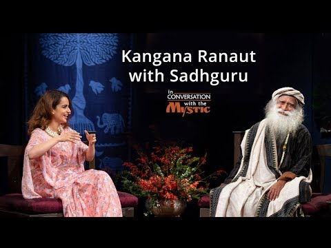 Xxx Mp4 Kangana Ranaut With Sadhguru In Conversation With The Mystic Mumbai 2018 3gp Sex