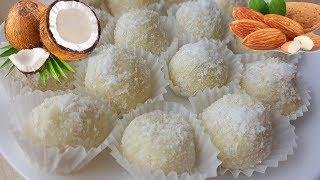 Burfi Coconut with Almond | شیرینی ناریال عید