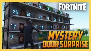 Mystery Door Surprise mini-game in Fortnite Creative!