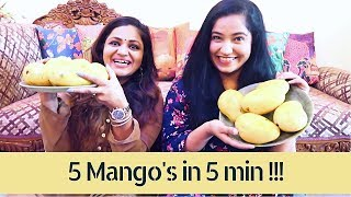 Eat 5 Mango's in 5 minutes Challenge ! | Collaboration with Wise She Makeup | Indian Youtubers