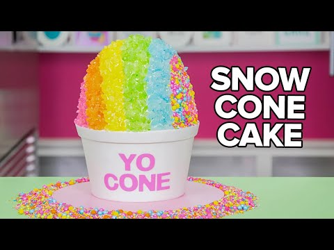 GIANT SNOW CONE CAKE How To Cake It