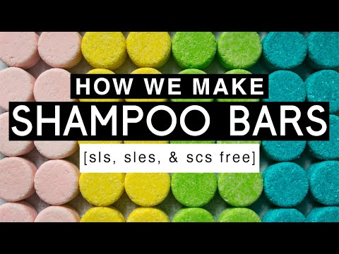 How We Make SHAMPOO BARS sls sles & scs free Royalty Soaps