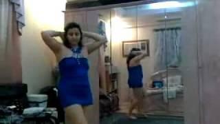 رقص منزلي خاص بالأزرق القصير
