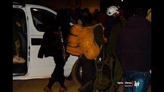 المشاهد الأولى لوصول عوائل و مقاتلي بلدة بيت جن إلى درعا