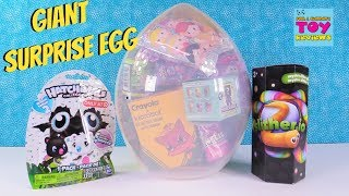 Giant Shopkins Surprise Egg Slitherio Hatchimals Disney Toy Review | PSToyReviews
