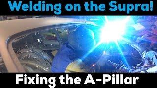 Pt.8 MKIV Supra Project! | Replacing the A-Pillar!
