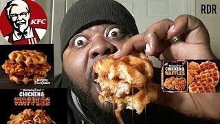 ☆KFC NEW Chicken&Waffles Sandwich Review☆!!