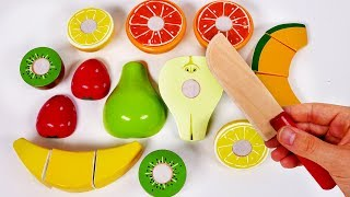 Cutting Fruit Playset for Children Learn Colors with Toys for Kids