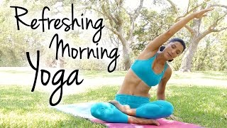 Morning Yoga For Energy Boost & Flexibility, Tension & Pain Relief 20 Minutes Beginner Workout