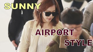 Girls Generation (SNSD) Sunny Airport style