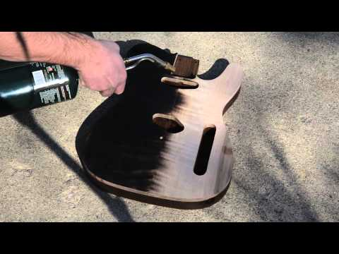 Charring a Guitar Top Flaming a Flame Maple Top Scorched Luthier Project