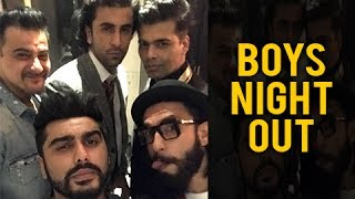 Ranveer Singh, Ranbir Kapoor Surprise Arjun Kapoor On His Birthday | Midnight Party
