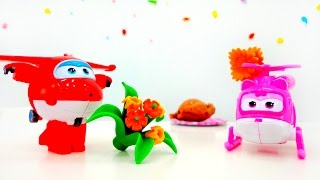 ✈️Super Wings toys. Super Wings Dizzy & Super Wings Jett on a date. St Valentine for kids #PlayToyTV
