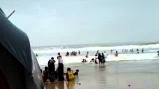 Many People Winter Time Digha beech Enjoy